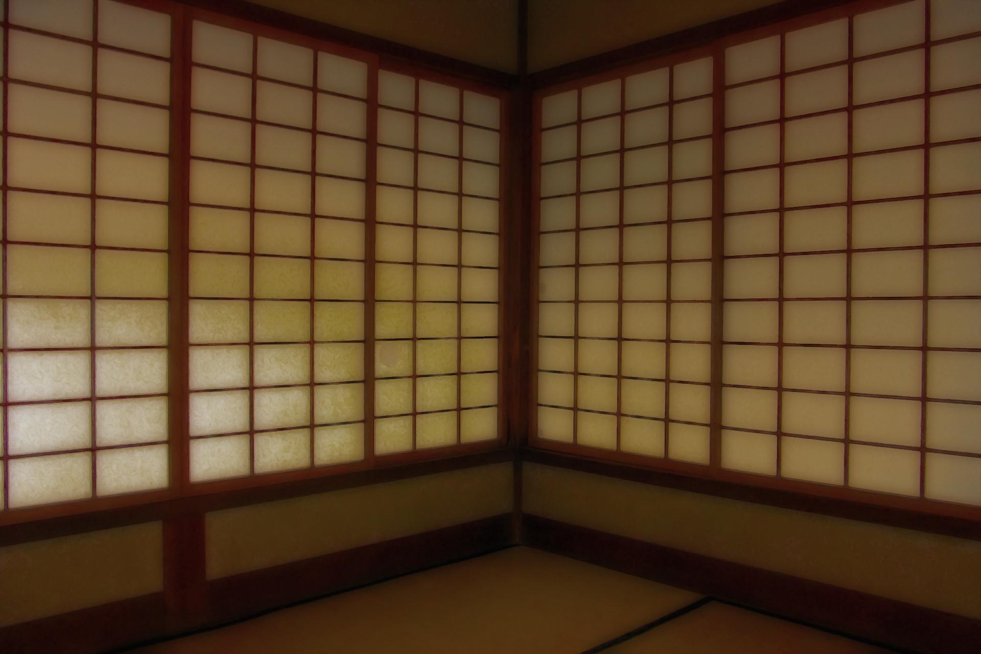 日本の畳間と障子 / Japanese tatami room and shoji